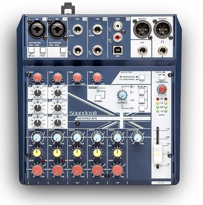 8路小型模拟调音台