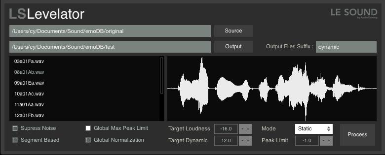 响度正常化工具