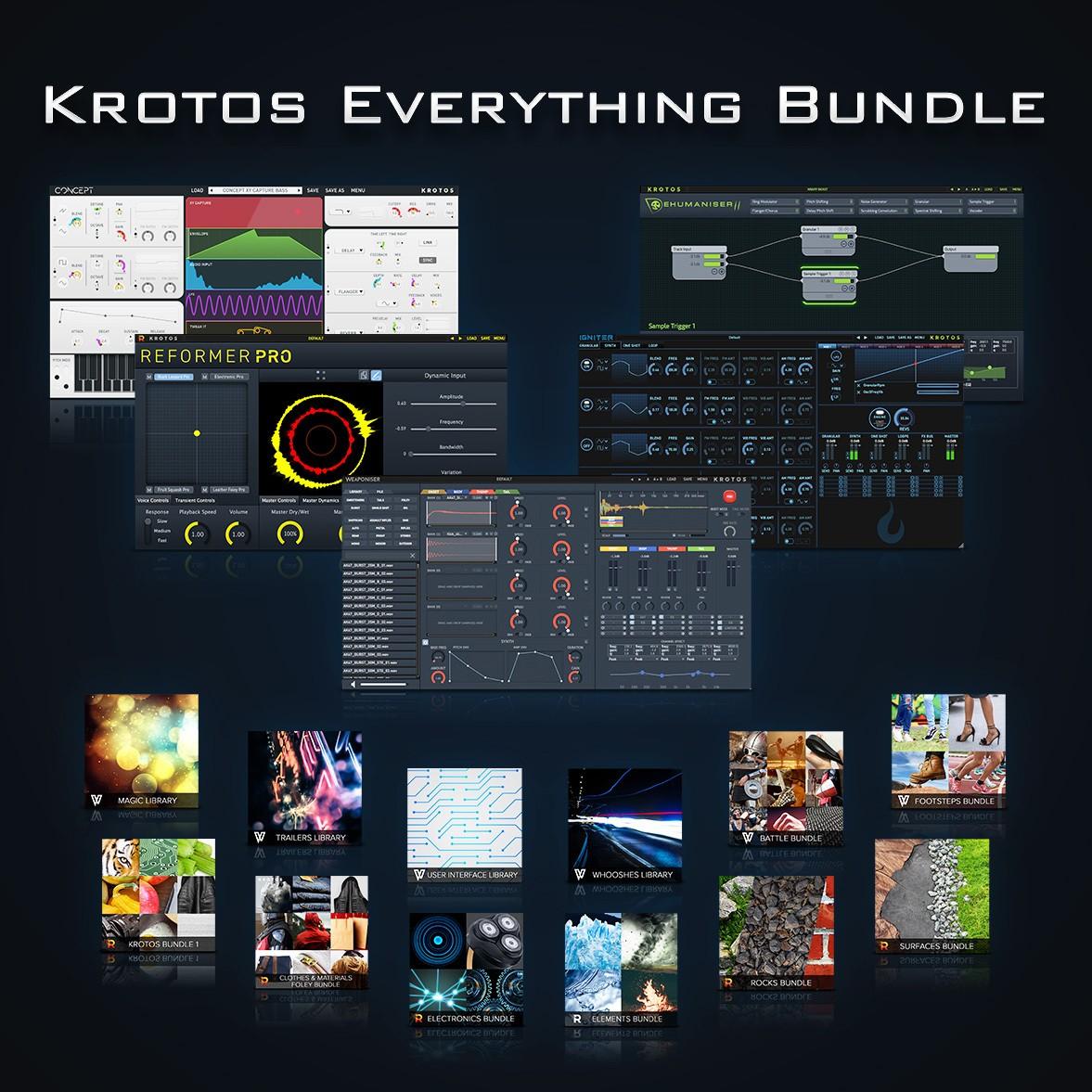 Krotos 发布 Everything Bundle 声音设计套装