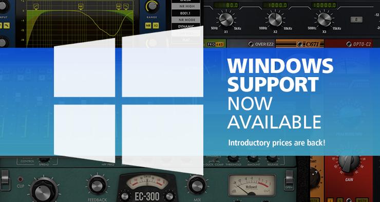 McDSP 发布 Windows 更新