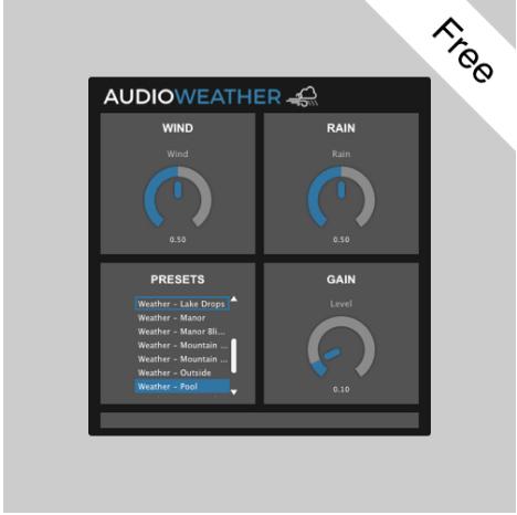 AudioWeather:免费天气音效插件