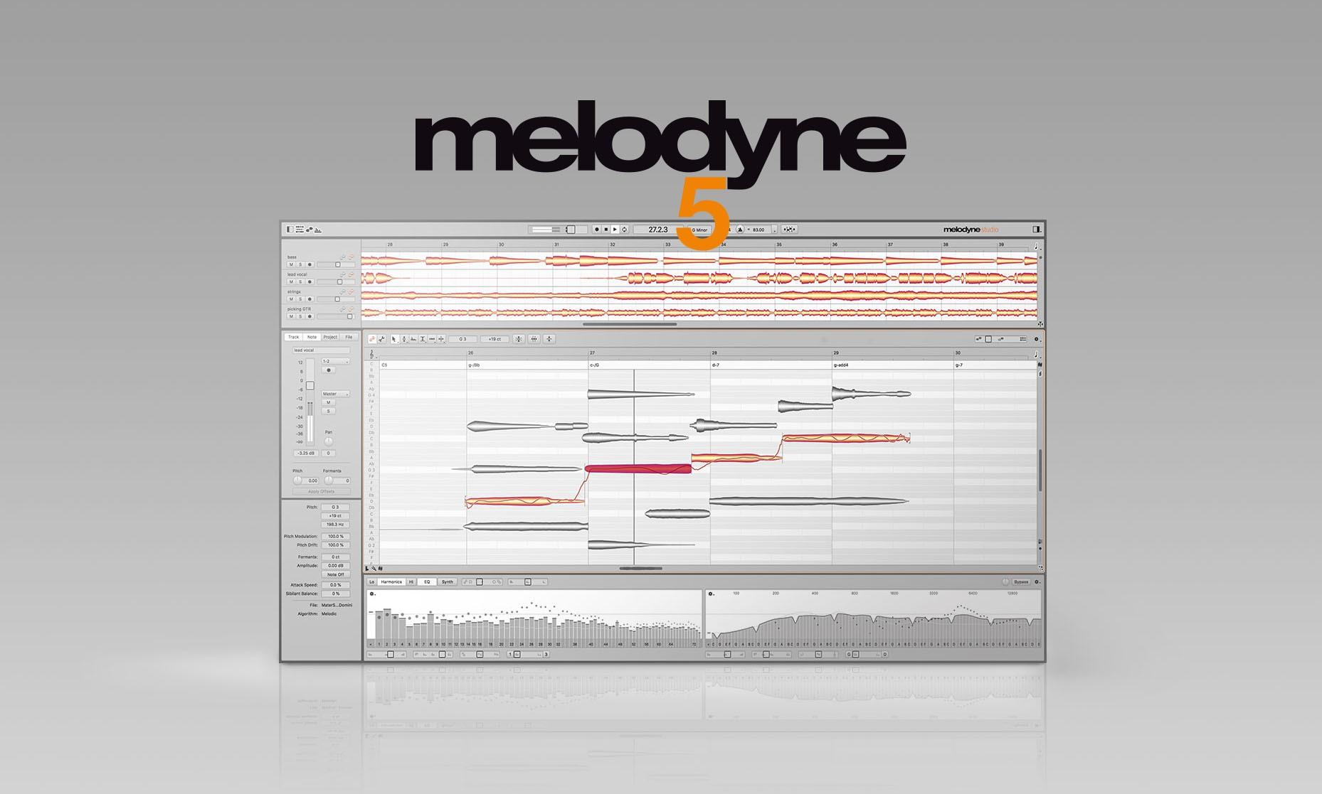 Melodyne 5 - 更好、更快、更具音乐性