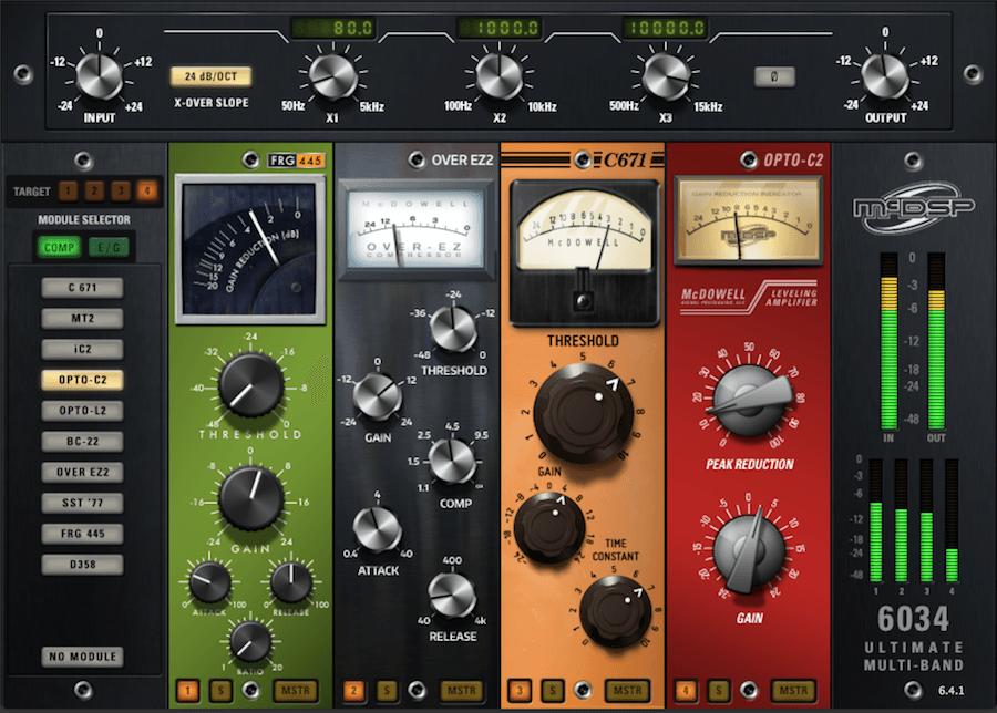 用McDSP 6034多段压缩控制Bass音色