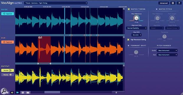 SOS杂志评测VocAlign Ultra人声对齐和音高修正插件