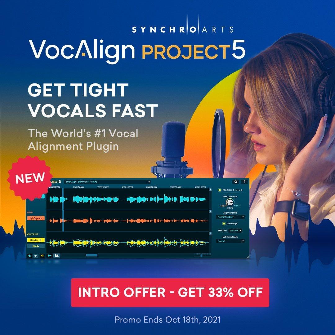 头号音频对齐插件 VocAlign Project 5 发布