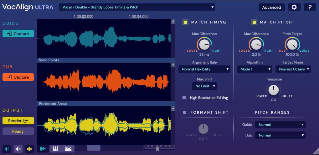 Synchro Arts 发布 VocAlign Ultra:新一代音高节奏快捷校准工具