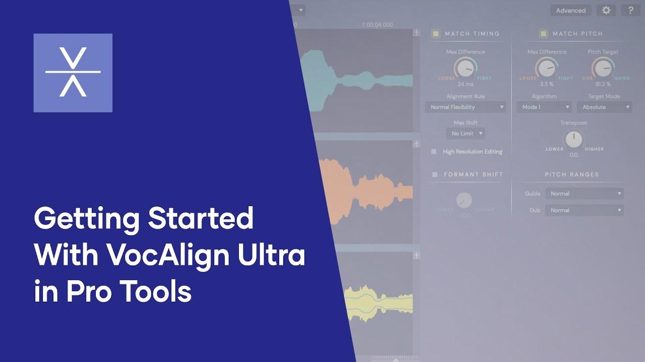 在Pro Tools中使用VocAlign Ultra对齐人声