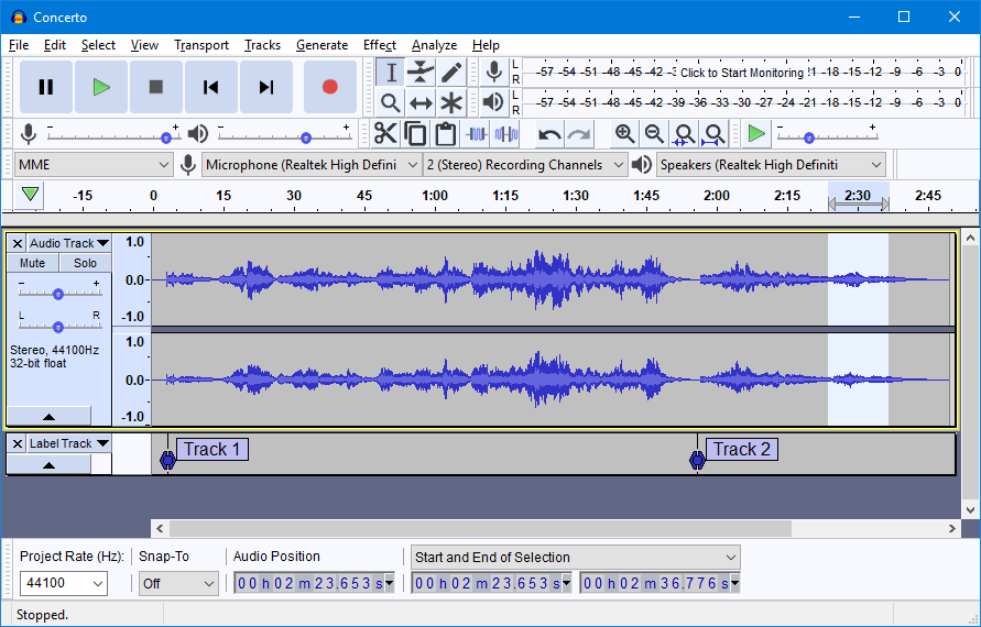 Audacity 录音编辑软件