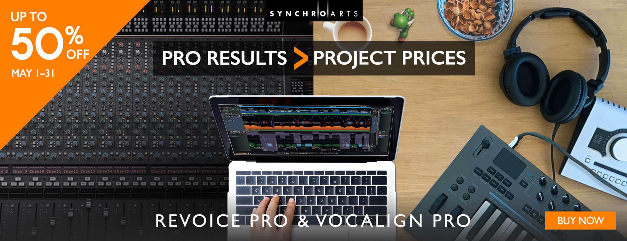 Revoice Pro 5月促销,专业的效果,工作室的价格