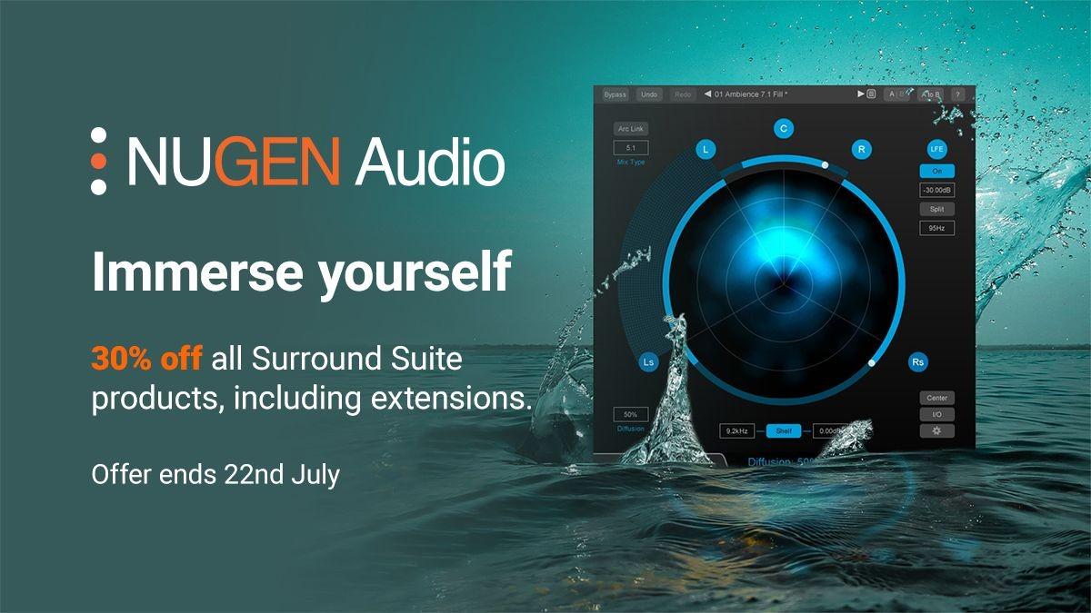 """Nugen Audio的 """"沉浸式音频活动 """"和夏季销售......"""