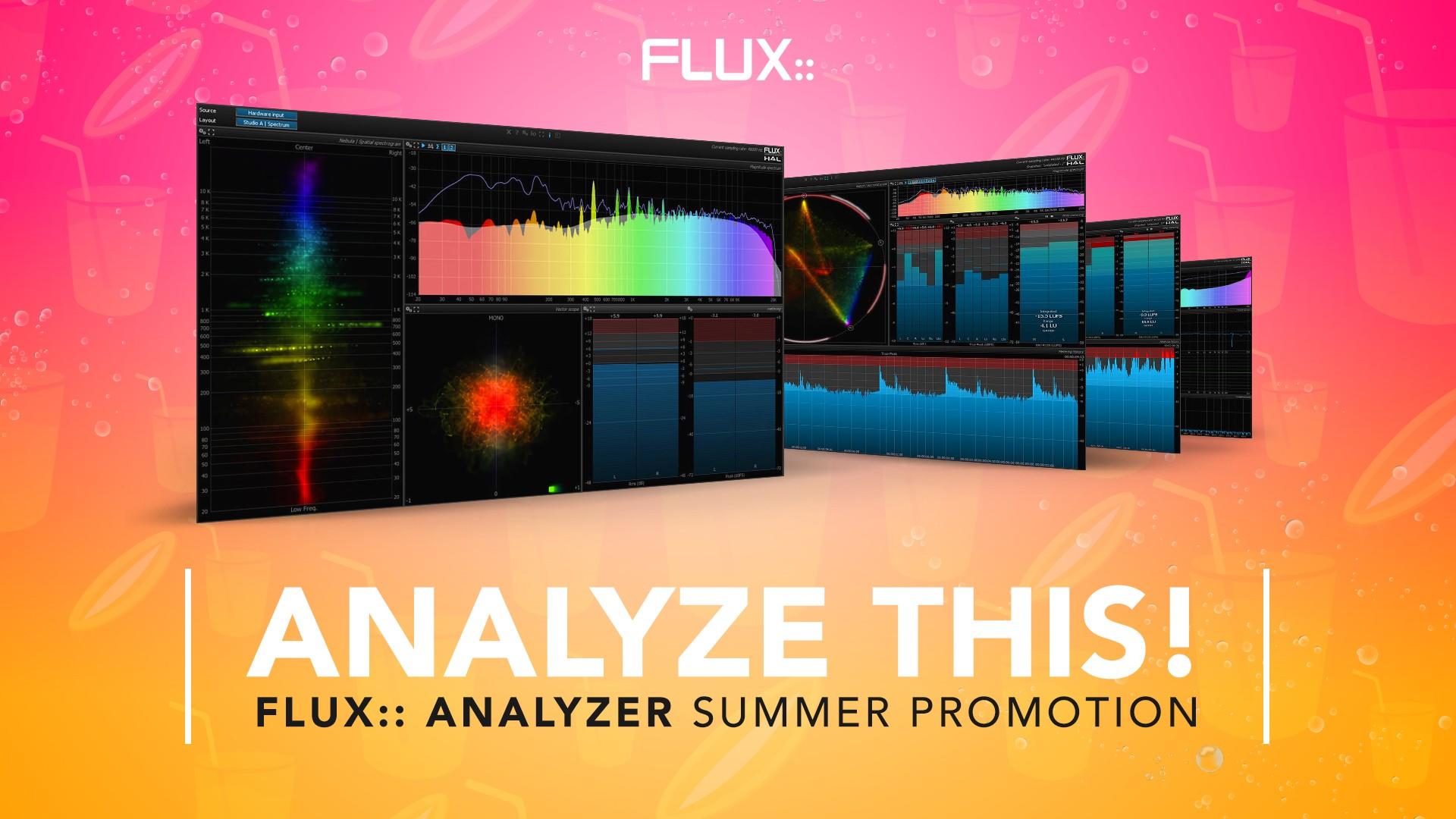 Flux:: Analyzer 分析软件夏季促销